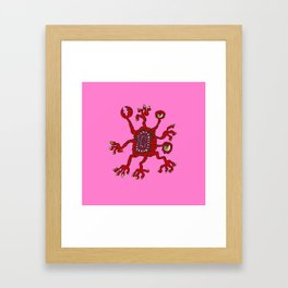 Are you ill? Check your Germs! Pinch Framed Art Print