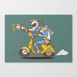 Space Scooterman Canvas Print