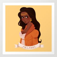 martell Art Prints featuring Arianne Martell by Melanie Atwater