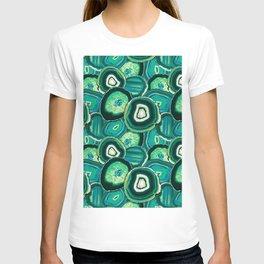 Geode Slices No.1 in Emerald + Malachite Green T-shirt