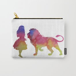 Lion and girl Carry-All Pouch