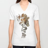 seashell V-neck T-shirts featuring Seashell Love by Ingrid Lliguin