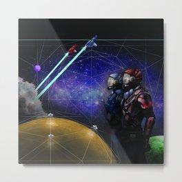 Space, man. Metal Print