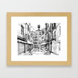 Concrete Jungle (BW) Framed Art Print