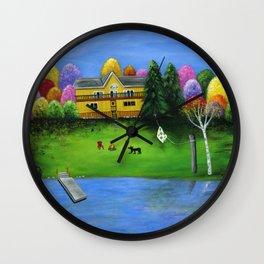 Pumpkin's Honeybear Cottage Wall Clock