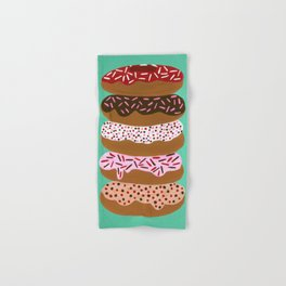 Stacked Donuts on Mint Hand & Bath Towel