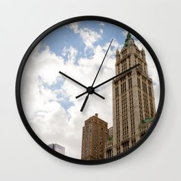 Over New York City Wall Clock