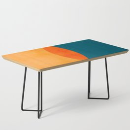 Mid Century Eclipse / Abstract Geometric Coffee Table