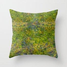Green Depths Throw Pillow