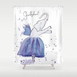 Gisellephant Shower Curtain