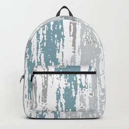 Blue Grey abstract. .minimalist. line. minimalism. lines. Backpack