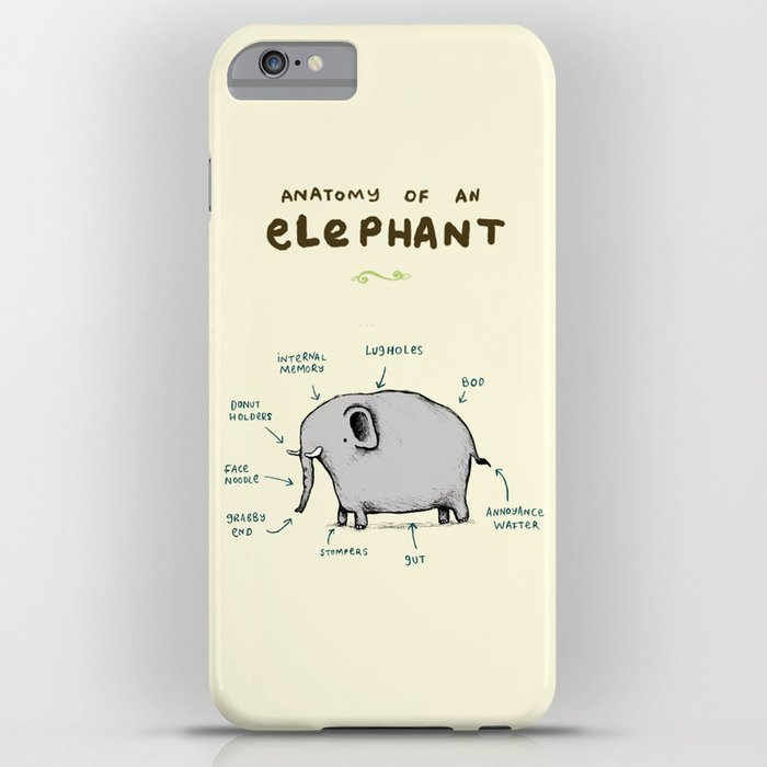 anatomy of an elephant iphone case