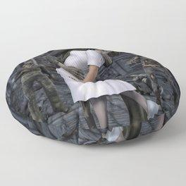 Zombies Kiss  Floor Pillow