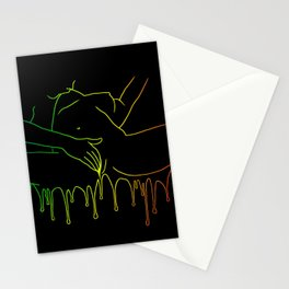 Colorful Climax line rainbow Stationery Cards