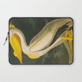 White Pelican John James Audubon Scientific Vintage Illustrations Of American Birds Laptop Sleeve