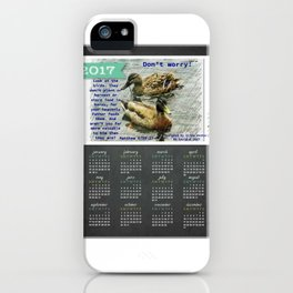 Don't worry, God cares for the birds, bible verses, 2017 Calendar iPhone Case