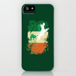 Distressed Irish Flag St Patricks Unicorn Green iPhone Case