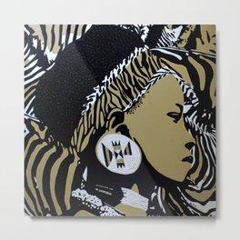 Zulu girl with zebra print 4 Metal Print