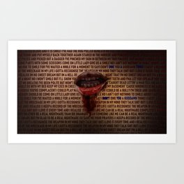 I Don't Owe You A Goddamn Thing (Nightmare) Art Print