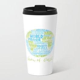 Vision of Earth - World Cloud Metal Travel Mug