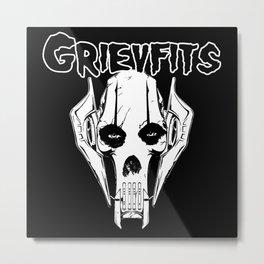 Grievfits (white) Metal Print