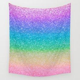 Rainbow Glitter Wall Tapestry