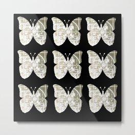 High Tech Butterflies 3 Metal Print