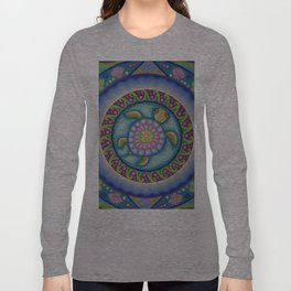 Little Turtle Mandala Long Sleeve T-shirt