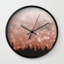 Demoralized Forest Wall Clock
