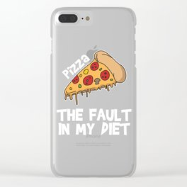 Funny It's not my fault Joke Tee Design THE FAULT IN MY DIET Clear iPhone Case
