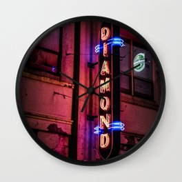 Neon Nights Wall Clock