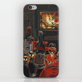 Wine by Fire light iPhone Skin