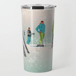Skiers Summit Travel Mug
