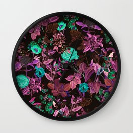 Ambiance Floral Wall Clock