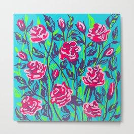 Roses blooming  Metal Print