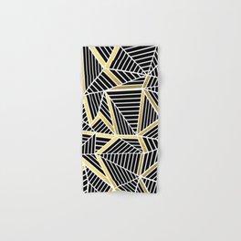 Ab Lines 2 Gold Hand & Bath Towel