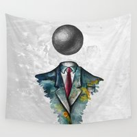 magritte Wall Tapestries featuring Mr. Man • René Magritte by Ian Vicknair