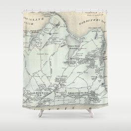 Vintage Map of East Hampton New York (1873) Shower Curtain