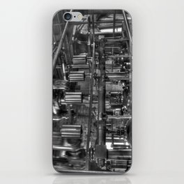 Steam valves in black and white iPhone Skin