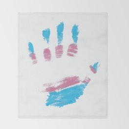 Trans hand Throw Blanket