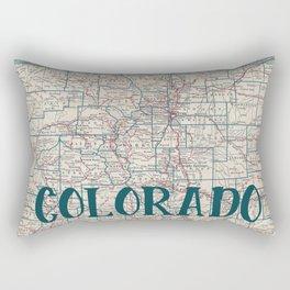 Colorado Map Rectangular Pillow