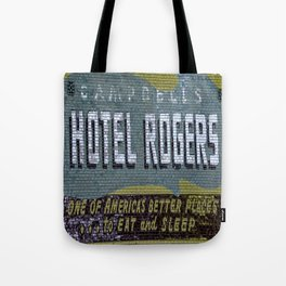Idaho Falls - Vintage Hotel Rogers Better Place To Eat And Sleep Tote Bag
