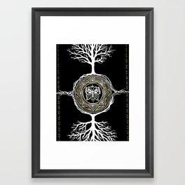 Butterfly Tree Mandala Framed Art Print
