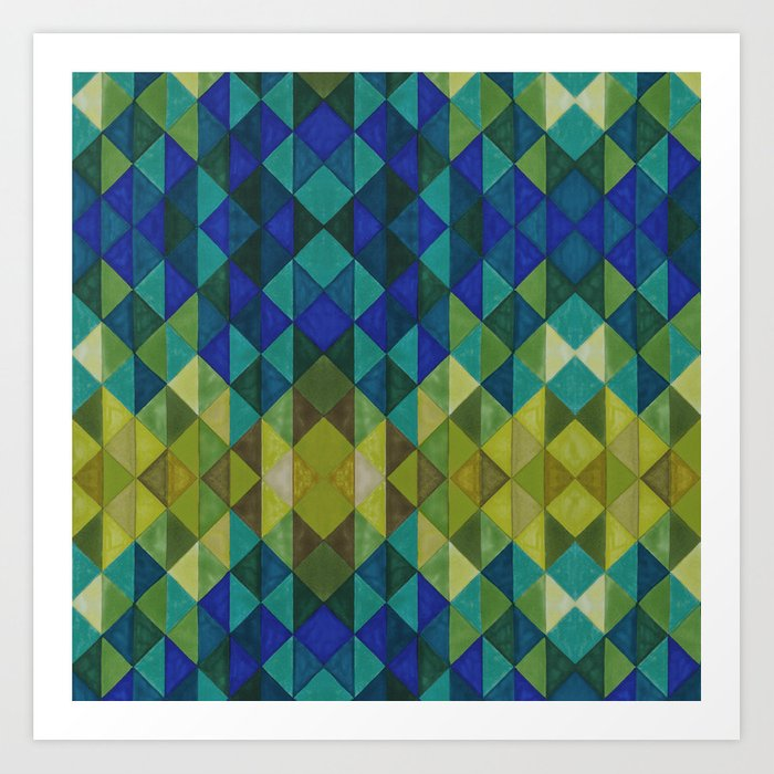 Geometric Spectrum Art Print by erikathorpe