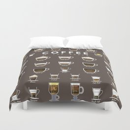 Coffee Chart Duvet Cover