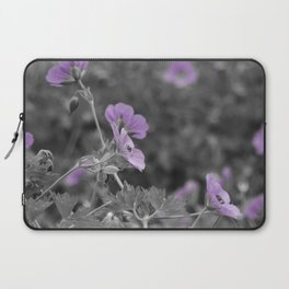 A2 Purple Flowers Laptop Sleeve