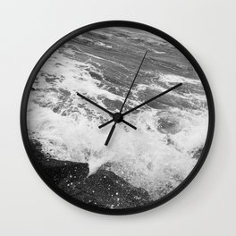 SEA on Black and White Wall Clock