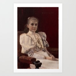 Seated Young Girl Art Print