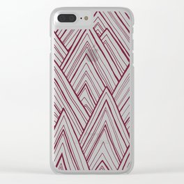 Stripe Mountains - Maroon Clear iPhone Case