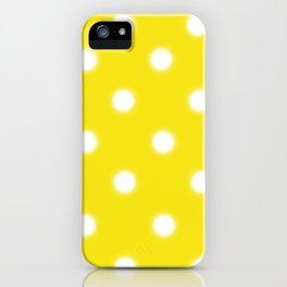 Yellow & White Polka Dot iPhone Case